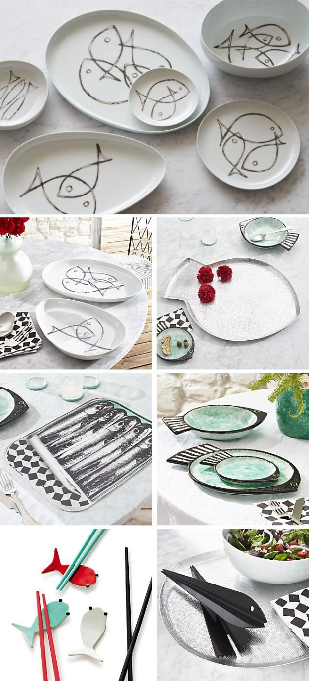Paola Navone for Crate and Barrel _ Fish collection | http://www.crateandbarrel.com/paola-navone-collection/paola-navone-fish-collection/1 #paolanavone #createandbarrel
