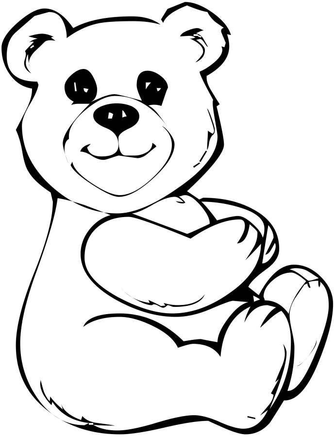 Teddy Bear Applauseand Sitting Down Coloring Pages ...