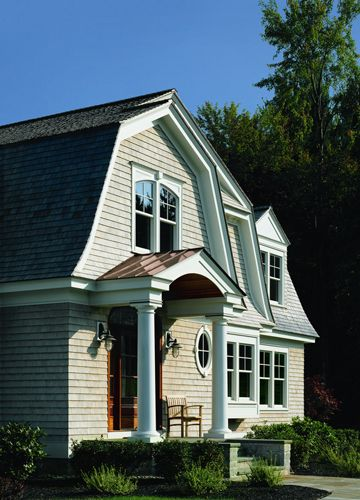 Andersen Windows - Craftsman Bungalow Exterior - 400 Series Woodwright  Double-Hung and Oval specialty