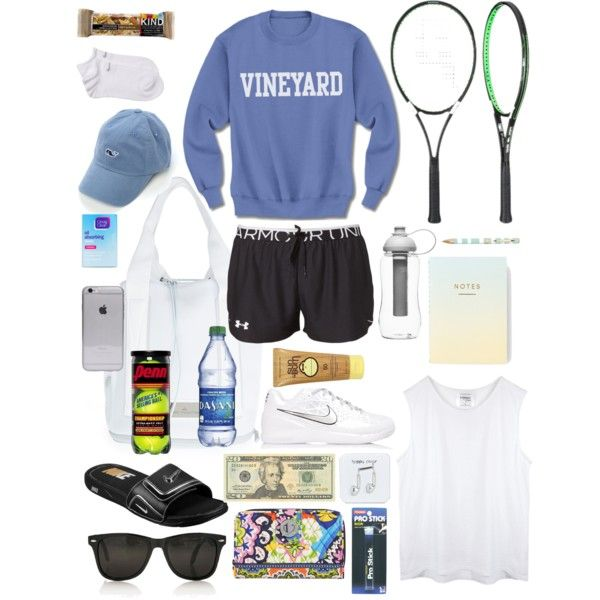 What's In My Tennis Bag! by caroline2020 on Polyvore featuring polyvore, fashion, style, Under Armour, NIKE, adidas, Vera Bradley, Vineyard Vines, Happy Plugs, Sun Bum, Sagaform and OPTIONS