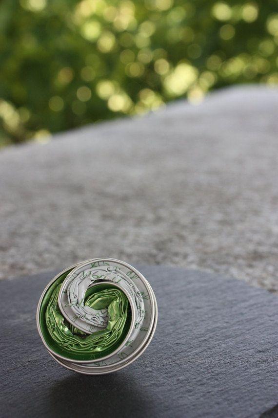 NESPRESSO Grünweiß ring von LoScrignodiClaudia auf Etsy