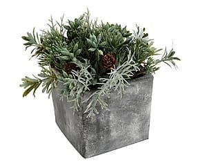 Composizione artificiale con vaso Oslo - h 17 cm