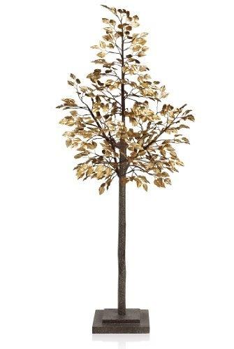 Marks Amp Spencer 6ft Contemporary Gold Effect Leaf Winter