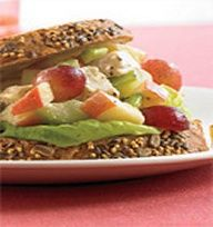 Biggest Loser Recipes - Chicken Salad Dijon- I might try it without grapes and apples.. don't like no fruit in my chicken salad...