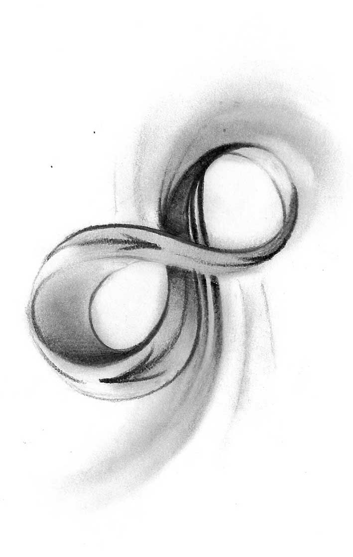 Infinity symbol....I would  want this tattooed on the inside of my ring finger
