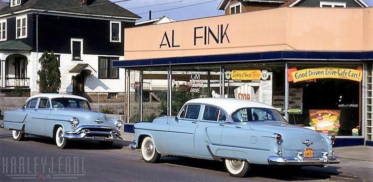 1953 Al Fink Oldsmobile Dealership, Nanticoke