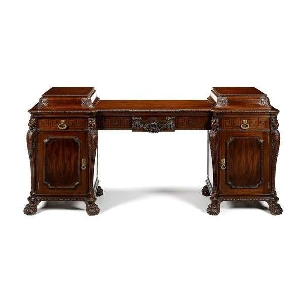 Bonhams : An impressive late Victorian 'Chippendale Revival' carved... ❤ liked on Polyvore featuring home, furniture, storage & shelves, sideboards, mahogany buffet, mahogany wood furniture, mahogany furniture and mahogany sideboards
