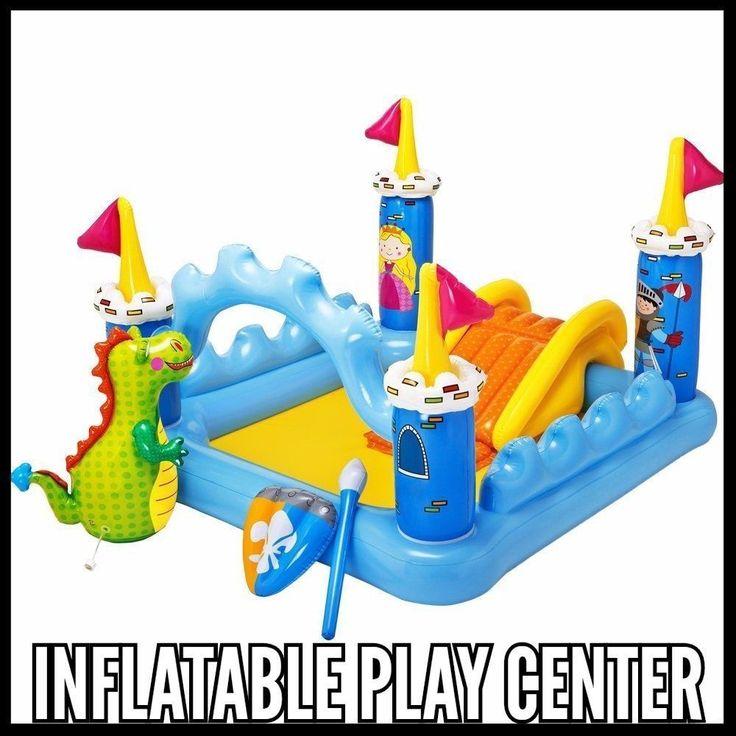 Garden Play Center  Inflatable Kids Pool Outdoor Fun Fantasy Castle With Sprayer
