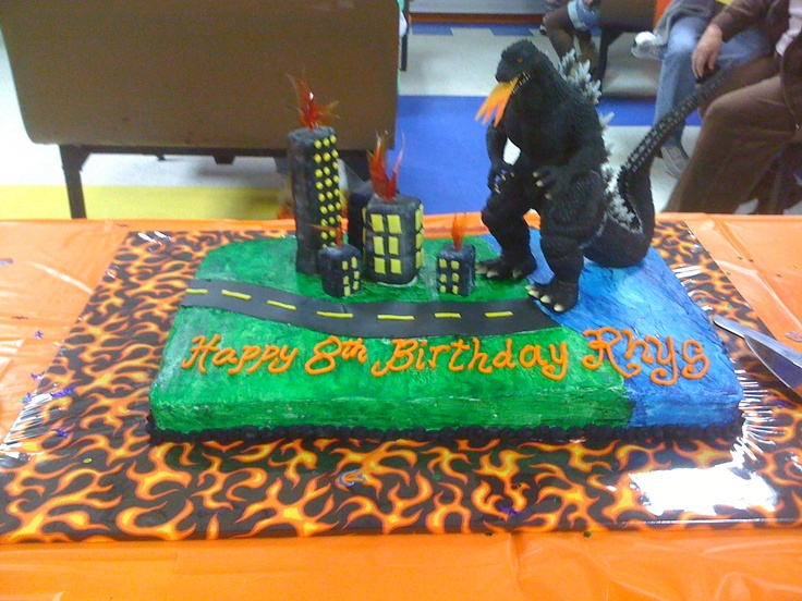 Godzilla Birthday Cake What Are You Gonna Do When You