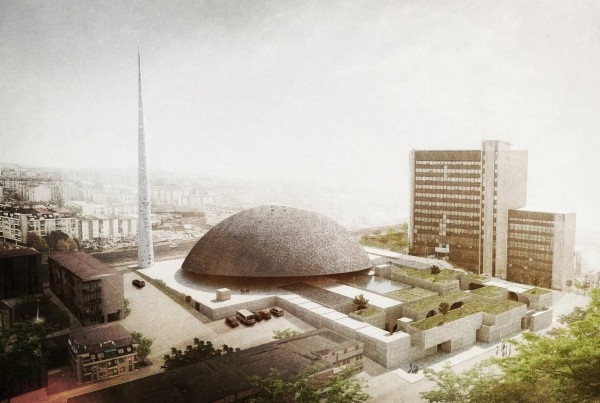 Pristina Central Mosque, Pristina, Kosovo | Oporto Office for Design and Architecture (OODA) | Contemporary interpretation of the mosque typology.