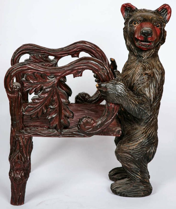 A Pair Of Black Forest Carved Wood Miniature Children's Armchairs | From a unique collection of antique and modern carvings at http://www.1stdibs.com/furniture/more-furniture-collectibles/carvings/