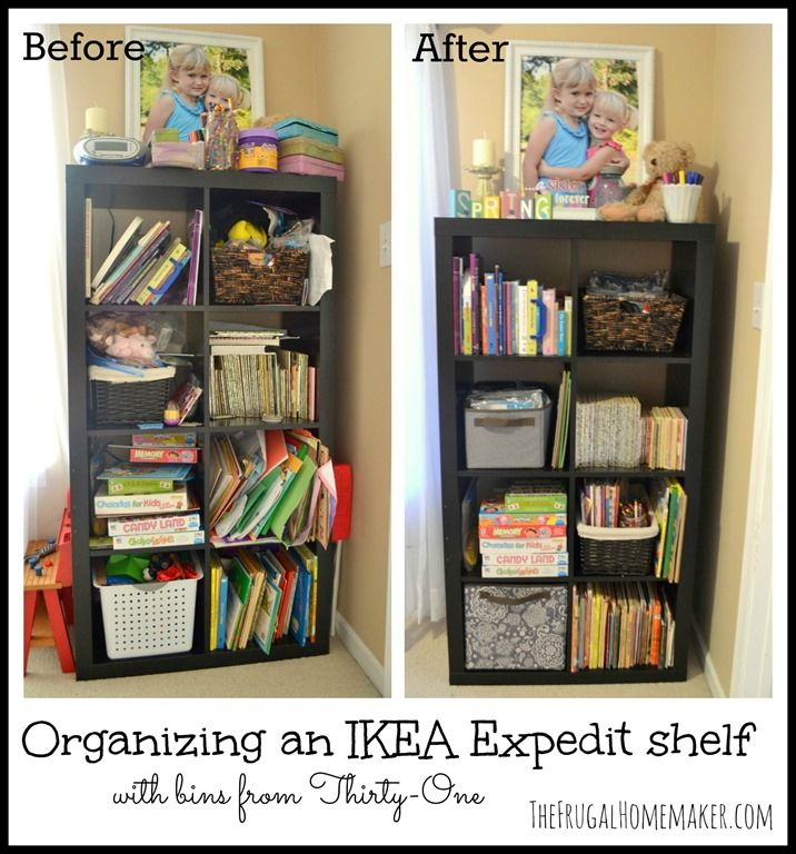 thirty one organizing ideas | Organizing an Ikea Expedit shelf with Thirty-One products | The Frugal ...