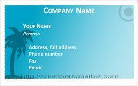 Image result for sample visiting cards
