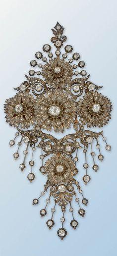 Diamond bodice prnament/ brooch. France 19th century                                                                                                                                                                                 More
