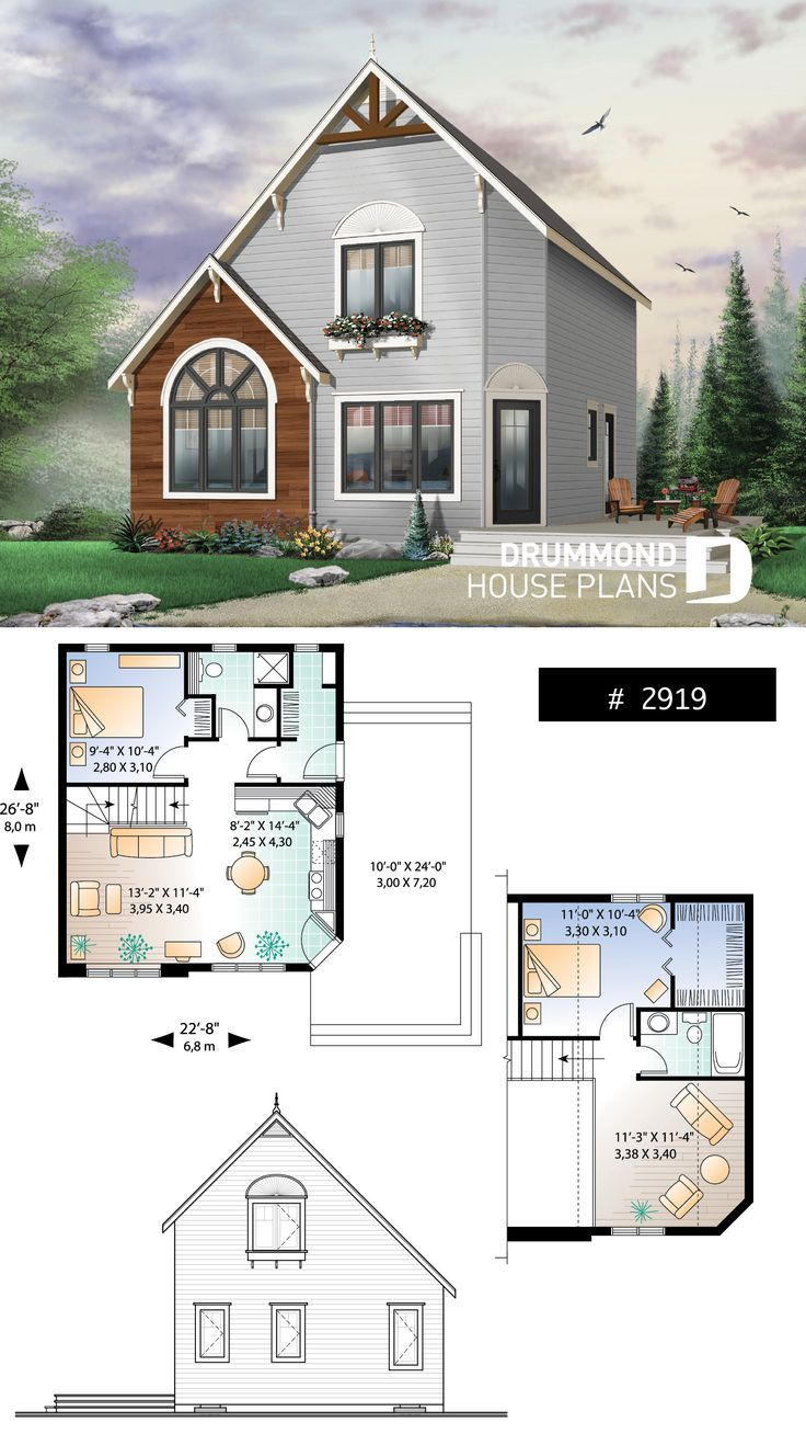 Tiny Rustic Home House Plans Sims House Plans Drummond House Plans
