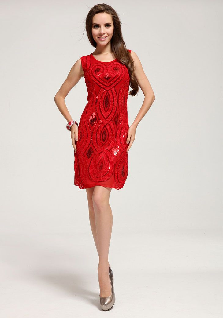 Free Shipping wholesale festive red sequins dress party evening elegant, Christmas and happy new year  evening dresses LM6022ES US $15.99