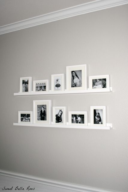 DIY Gallery Wall: How to create a photo gallery wall using frames and shelves