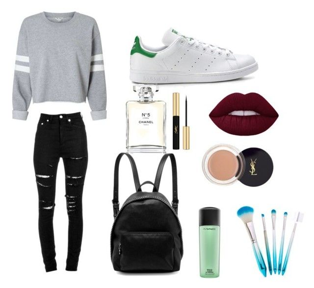 """Casual"" by isagarcia18 on Polyvore featuring moda, Yves Saint Laurent, STELLA McCARTNEY, Chanel y MAC Cosmetics"