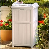 33 Gallon Outdoor Trash Container Hideaway