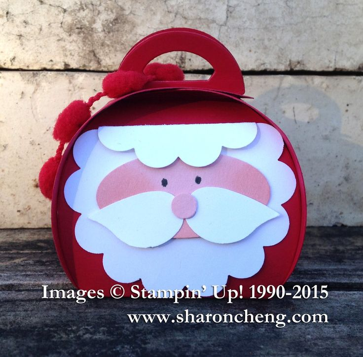 SHARING CREATIVITY and COMPANY: Punch Art Santa Curvy Keepsake Box Tutorial