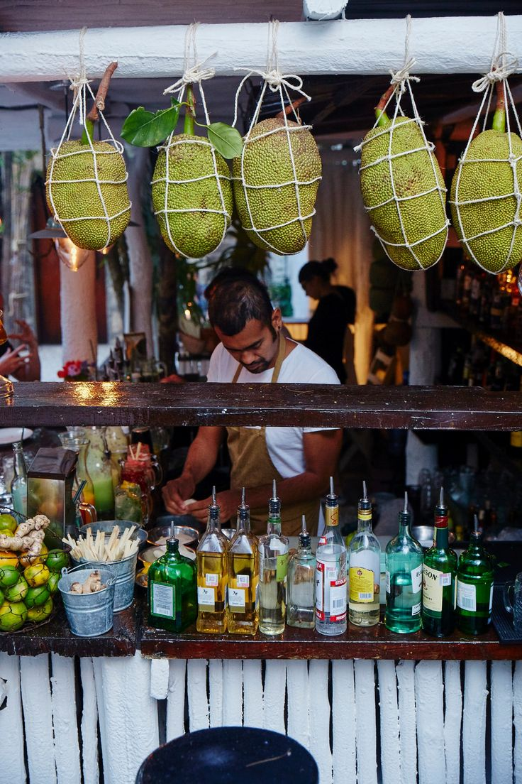 Hartwood restaurant in Tulum, Mexico, juices fresh fruit daily for cocktails. Get the recipes from williams-sonoma.com