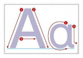 """Εκτύπωση φύλλου δραστηριότηρας με θέμα """"Πώς γράφεται το γράμμα Α,α""""."""