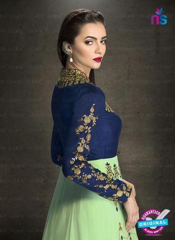 AZ 3910 Green Faux Georgette Anarkali Suit