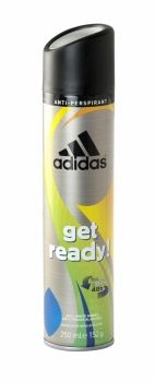 Adidas Anti Perspirant 250ml Get Ready Anti white marks. Developed with athlete