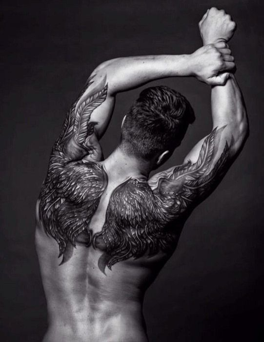 Cool Wings Tattoos Idea for Men