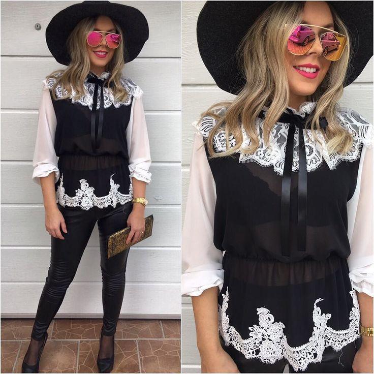 Krásna Krajková blúzka  opäť dostupná / veľ.UNI v cene 2490 IHNEĎ K ODBERU Kúpiš aj tu http://ift.tt/2f7nYGh #tvojstyl#fashion