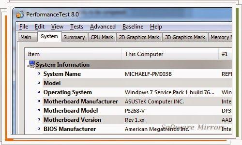 PassMark PerformanceTest 8.0 Build 1035