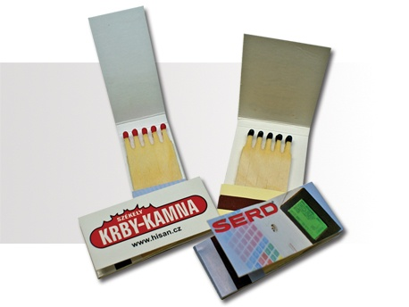 Carteritas de Cerillas. Modelo Minibooks 1x5. Precio 2.500 uds. impresas 1 color. $713.62 - 547,00 Euros.