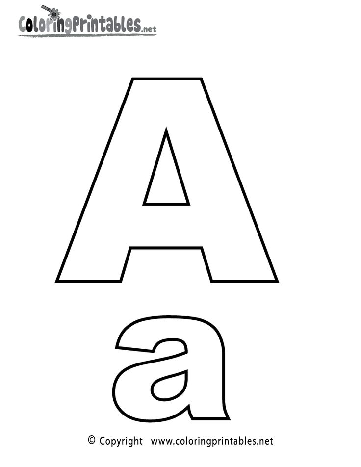 Alphabet Letter A Coloring Page - A Free English Coloring Printable ...