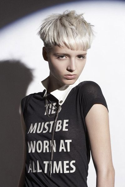 Fun and Cute Pixie with Ultra Short Fringe
