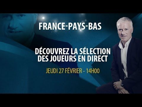 Live vidéo : La conférence de presse de Deschamps en direct (France-Pays-Bas) - http://www.actusports.fr/91084/live-video-la-conference-de-presse-de-deschamps-en-direct-france-pays-bas/
