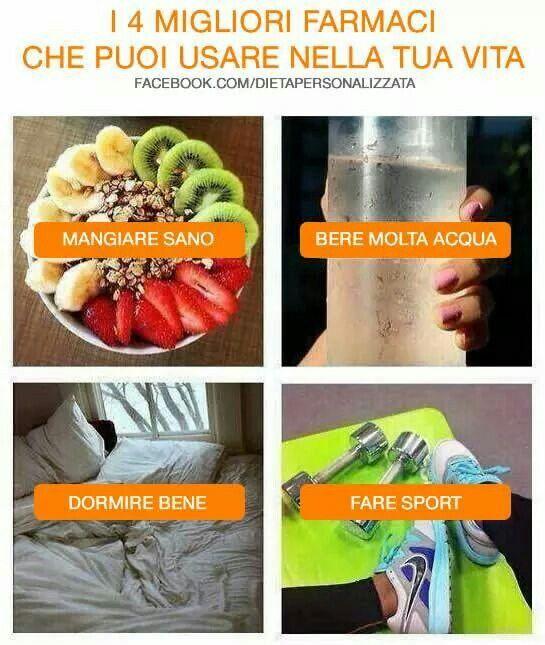 Poche #regole per una vita in #salute: 1 Mangiare sano 2 Bere molta acqua 3 Dormire bene 4 Fare sport  Fonte: www.facebook.com/dietapersonalizzata