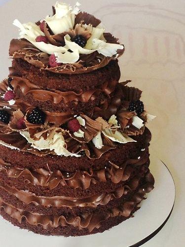 Naked cake, ou bolo pelado
