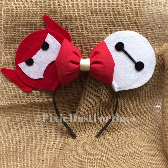 Baymax Mickey Ears, baymax Minnie ears, Disney ears, big hero 6 Mickey ...