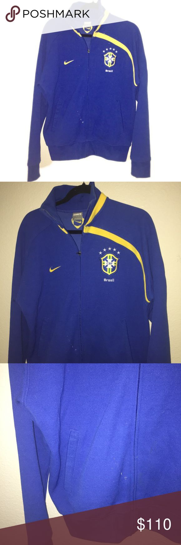Nike Brazil 🇧🇷 Soccer Jacket. Sz L Nike Brazil 🇧🇷 Soccer Jacket. Sz L Beautiful jacket, collectors piece for Nike Brasil Soccer/Football fans. Long in torso and arms. Zip front. Warm and durable. Nike Jackets & Coats Performance Jackets