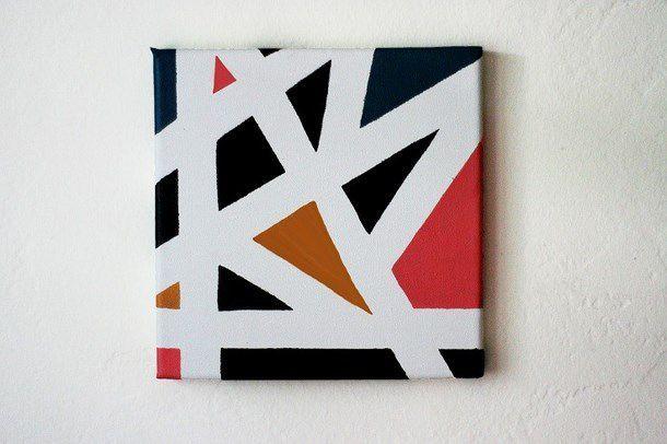 quadro con strisce geometriche