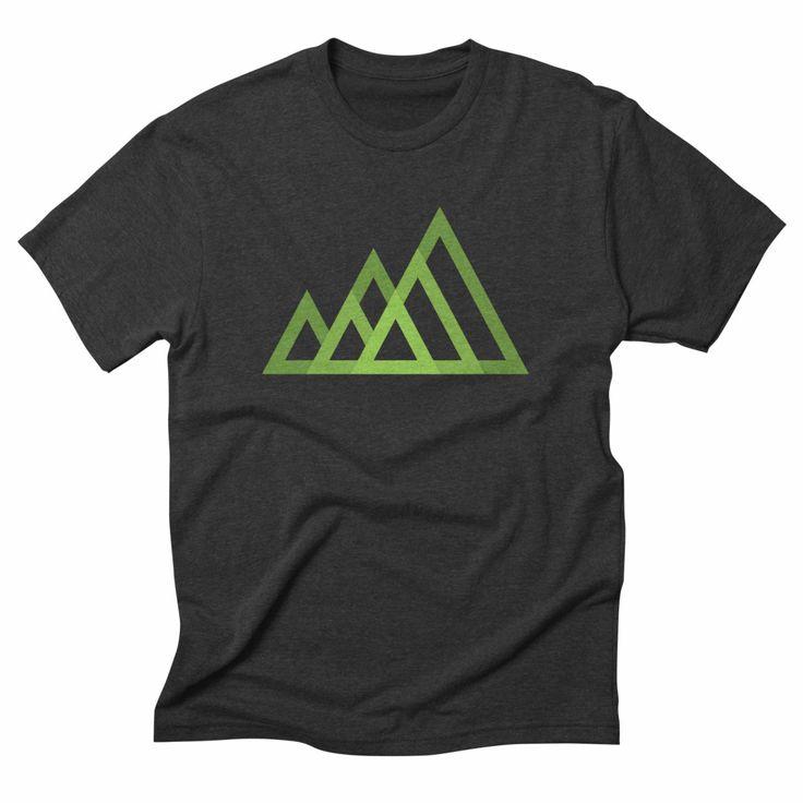 Mountains, heather t-shirt. #tshirt #tshirtdesign #mountain #green #nature #minimal #geometric #mountainbike #ecofriendly #ecofashion #eco #environment #apparel #clothing #mensfashion #menswear #womensfashion