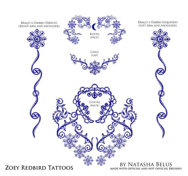 Zoey Redbird Tattoos by ~NatBelus on deviantART