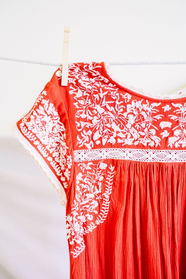 swing dress with embroidery