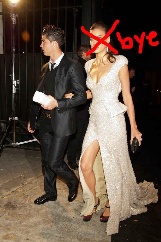 Cristiano Ronaldo aka your boo, has broken up with his supermodel girlfriend, Irina Shayk, aka your nemesis.