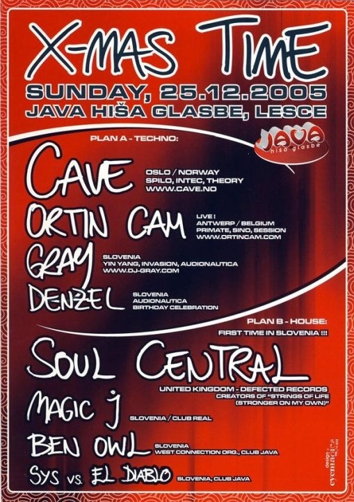 Party with Cave, Soul Central, Ortin Cam, DJ Gray / 2005