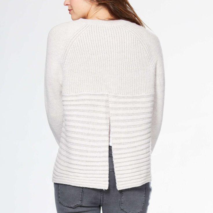 Jersey con cuello redondo y punto de canalé Mujer - Kiabi - 17,00€