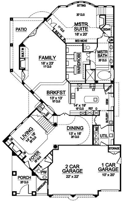 Plan 36288TX: First Or Second Floor Master Suite (With