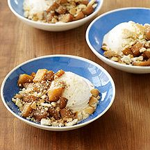 Tip: Top vanilla ice cream with spiced, cooked apples and crumbled cookies. It's a fun twist on apple pie. #recipe #WWLoves