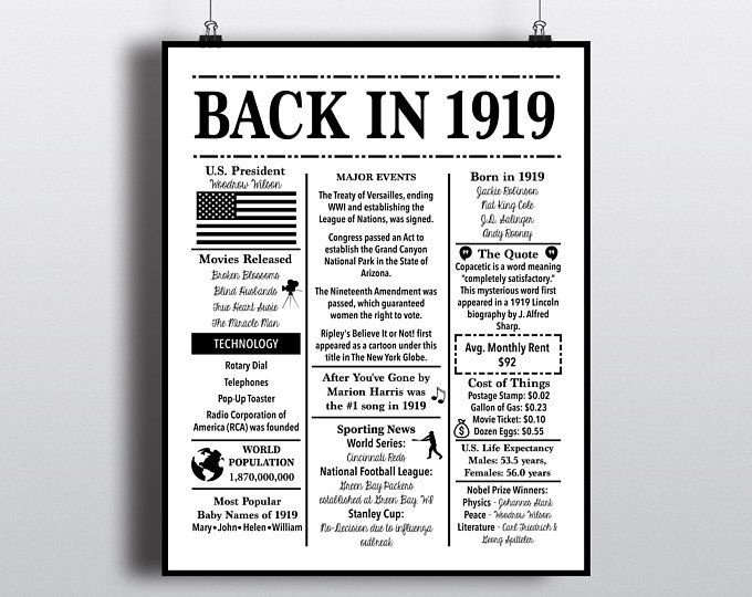 1969 Back In 1969 Black And White Poster Birthday 1969 Facts