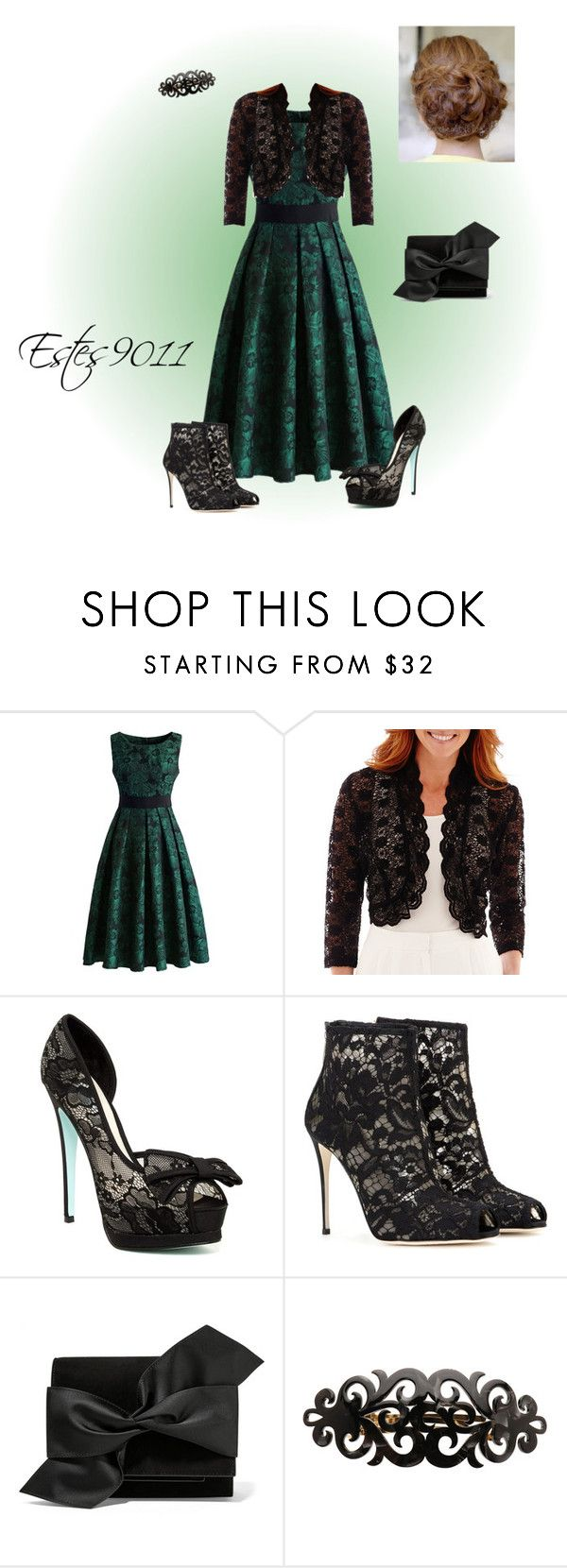 """Grace Lace"" by estes9011 ❤ liked on Polyvore featuring moda, Chicwish, R & M Richards, Betsey Johnson, Dolce&Gabbana, Victoria Beckham, France Luxe, women's clothing, women e female"